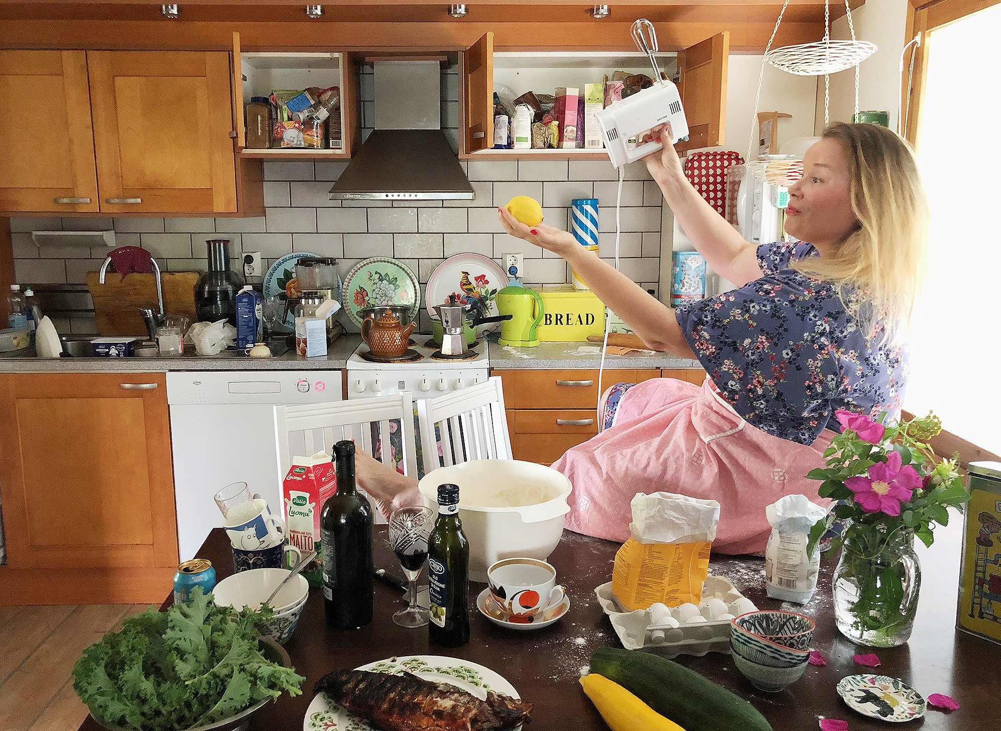 Graafikon keittiössä